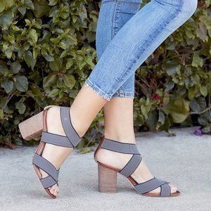 Sole Society Joesy Elastic City Sandal Navy 9.5